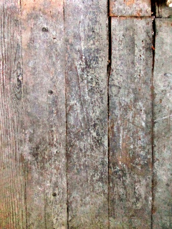 floorboards: Distressed wooden board surface makes good grunge background. Stock Photo