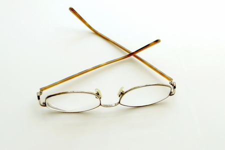 Eyeglasses on neutral background Stock Photo