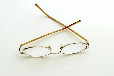 assistive: Eyeglasses on neutral background Stock Photo