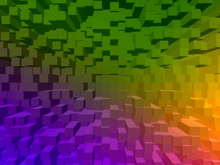 Colorful digital art background in Mardi Gras colors of purple, green, and gold.