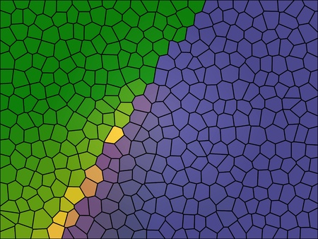 random: Colorful digital art background in Mardi Gras colors of purple, green, and gold.