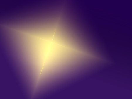 gold cross: Colorful digital art for Easter with cross-shaped light against purple background.