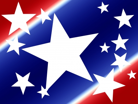 Colorful digital art background for Independence Day or any patriotic US holiday.