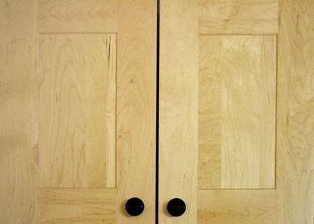 Cabinet doors with flat panel, prairie cottage style  photo