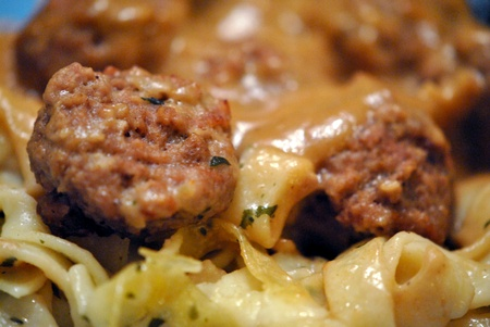 Swedish meatballs   Closeup