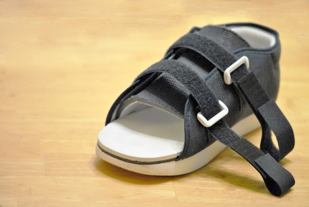 Orthopedic shoe for use after surgery or injury Stock Photo - 12580135