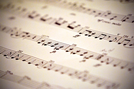 Sheet music for background Banco de Imagens - 12580115