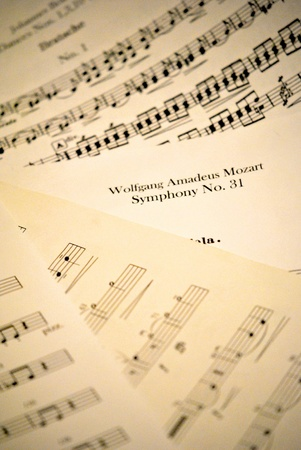 Sheet music for background Stock Photo - 12572584