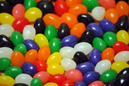 Jelly beans; closeup, shallow DOF Stock Photo