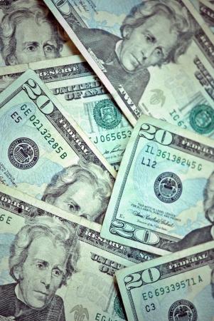 A heap of US twenty dollar bills Stock Photo - 13706555