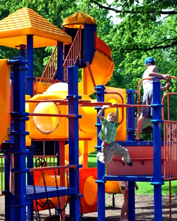 jungle gym: At last, a turn on the big kids jungle gym