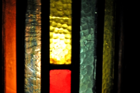 hurricane lamp: Closeup of stained glass  lamp chiney Stock Photo