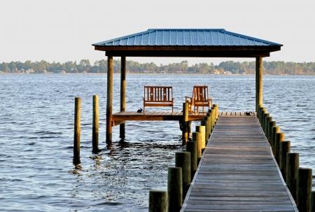 perdido: A hazy morning on Perdido Bay in northwestern Florida