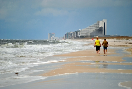 Tourists beachcombing on Perdido Key in northwestern Florida  Stock Photo - 15365795