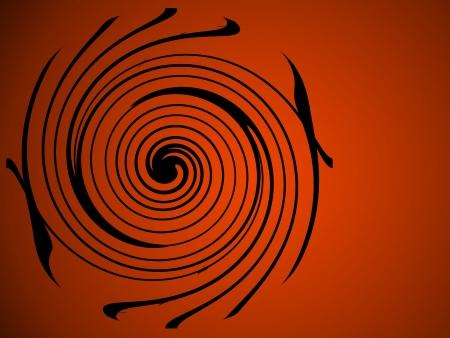 Sophisticated art-deco swirl of black on orange   Great Halloween background; plenty of copy space