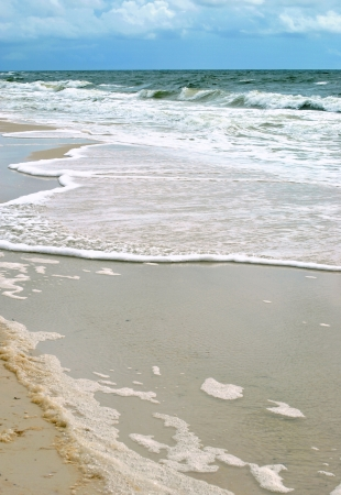 Gulf of Mexico in northern Florida; waves crashing onto the beach  Stock Photo - 15639900