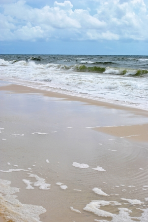 Gulf of Mexico in northern Florida; waves crashing onto the beach  Stock Photo - 15639881