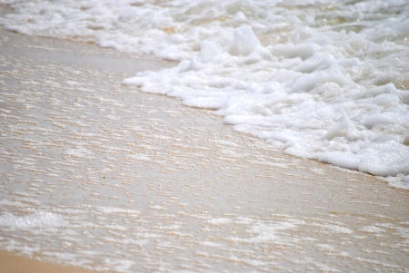 wave breaking on shore, closeup Stock Photo - 15639883