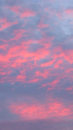 The end o a beautiul day, a bright pink sunset. Stock Photo