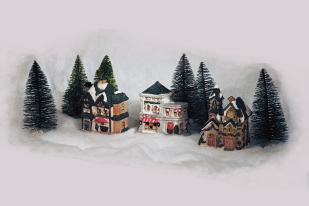 Toy village, a holiday tradition  photo
