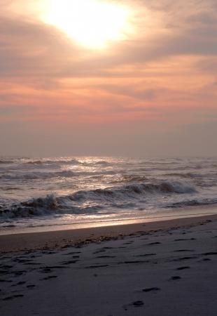 Winter sunset on Pensacola Beach, Florida  Stock Photo - 17594067