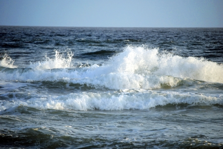 Waves crashing onto the shore   Gulf of Mexico near Pensacola Beach, Florida, USA photo
