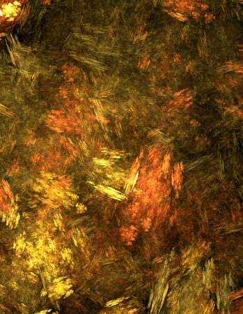 Impressionist abstract background in autumn palette, works well any side up    Stock Photo