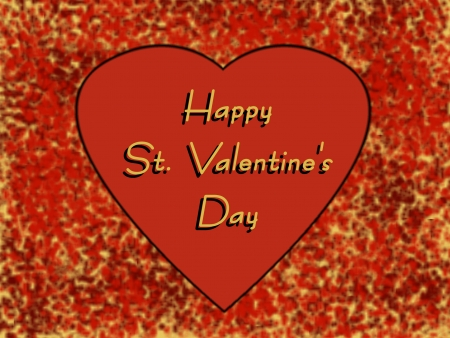 st valentine  s day: Heart with Greeting   Happy St  Valentine s Day