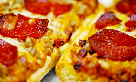 frans brood: French bread pizza with pepperoni