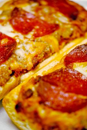 frans brood: Stokbrood pizza met pepperoni
