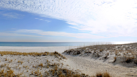 Florida beach on the Gulf of Mexico in winter