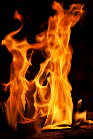 Leaping flames of fire photo
