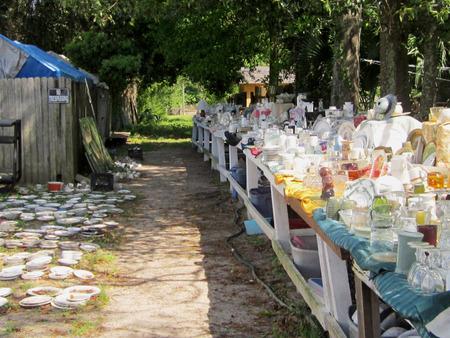 salvage yard: Neighborhood yard sale