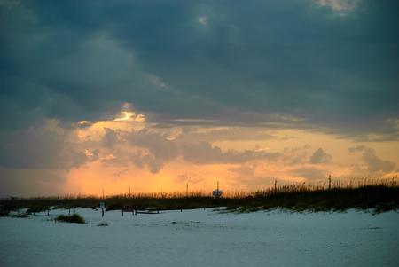 perdido: Sunset after a storm on Perdido Key, Florida Stock Photo