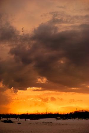 perdido: Sunset after a storm on Perdido Key, Florida.