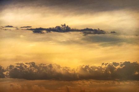 Sunset cloud layers