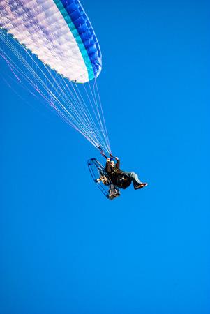 paraglider: Powered paraglider in flight