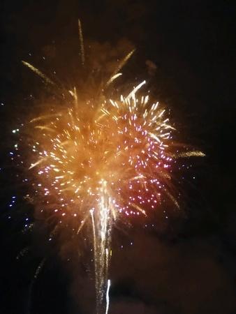 glow: Fireworks bursting