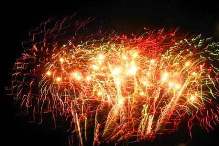 Fireworks bursting Stock Photo - 59934115