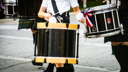 Drums on parade Imagens