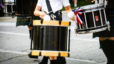 parade: Drums on parade Stock Photo