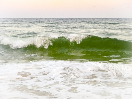 Waves of emerald green water of the Gulf of Mexico