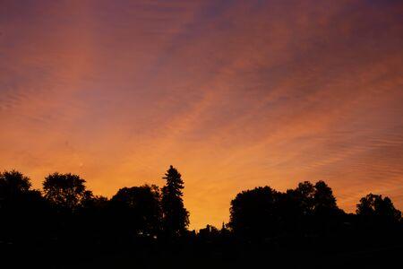 Red sky at daybreak
