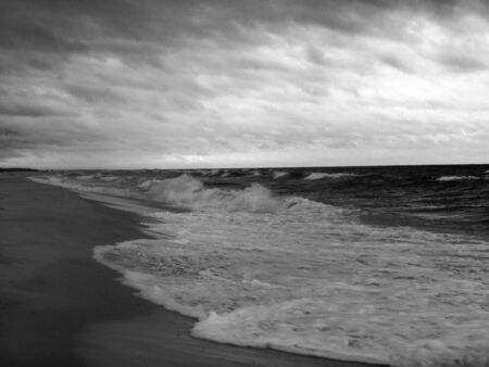 Stormy day at the beach.