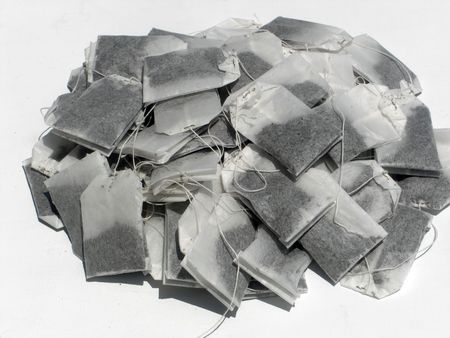 This is a pile of unused teabags.