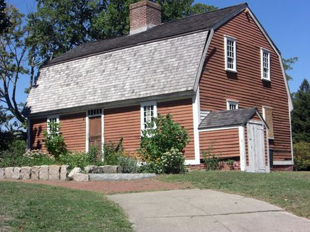 This historical cottage at the Roger Williams park, was built in the 1700s and belonged to Betsy Williams, a descendent of Roger Williams who, in 1631 arrived in Boston from England and founded the colony of Rhode Island.  photo