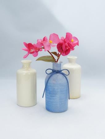 flowers in vintage bottles