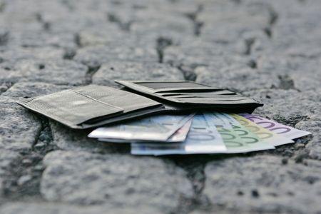 valuta: wallet Stock Photo