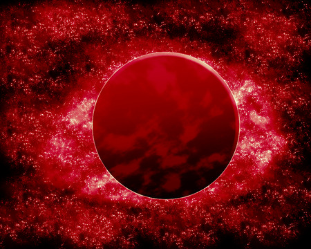 red sphere: Red planet - fantasy space Stock Photo