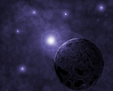 planeten in de ruimte en sterren met galaxes